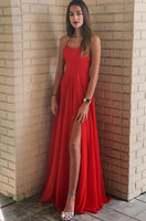 Sexy Prom Dress with Slit, Pageant Dress, Evening Dress, Dance Dresses, Graduation School Party Gown, DT0599