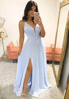 New Style Prom Dress with Slit, Pageant Dress, Evening Dress, Dance Dresses, Graduation School Party Gown, DT0598