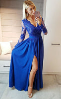Prom Dress Long Sleeves, Evening Dress, Dance Dresses, Graduation School Party Gown, DT0259