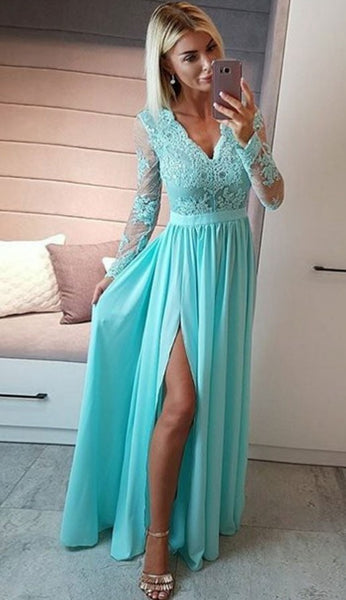 Prom Dress with Sleeves, Evening Dress, Dance Dresses, Graduation School Party Gown, DT0261