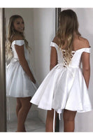 White Homecoming Dress 2020, Short Prom Dress ,Dresses For Graduation Party, Evening Dress, Formal Dress, DTH0749