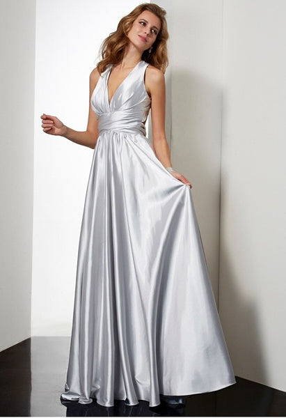 Sexy Silver Prom Dresses, Evening Dress, Formal Dresses, Graduation School Party Dance Dress, DT0381