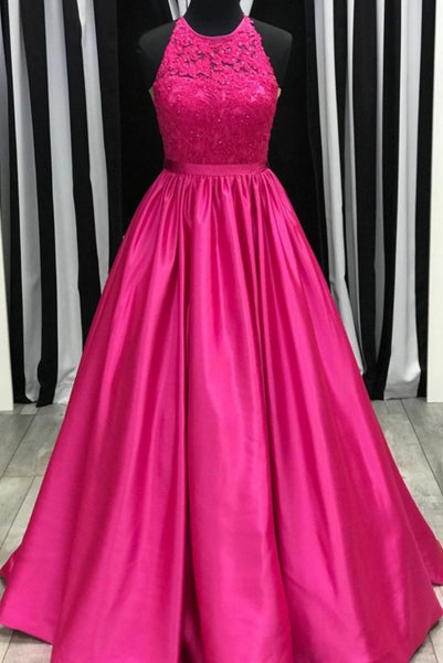 Prom Dress Halter Neckline, Pageant Dress, Evening Dress, Dance Dresses, Graduation School Party Gown, DT0566