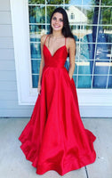 New Style Prom Dress with Pockets, Pageant Dress, Evening Dress, Dance Dresses, Graduation School Party Gown, DT0568