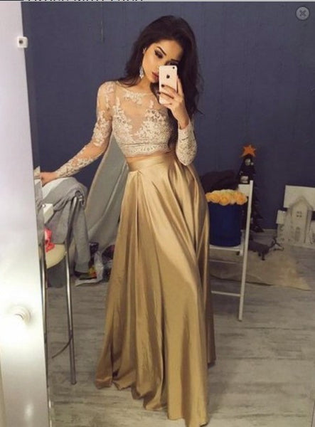 Prom Dress Long Sleeves, Evening Dress, Dance Dresses, Graduation School Party Gown, DT0271