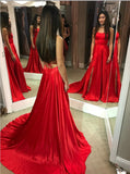 Sexy Red Prom Dress, Evening Dress, Dance Dresses, Graduation School Party Gown, DT0281