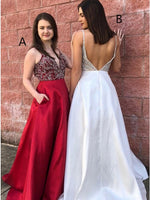 Prom Dress with Pockets, Prom Dresses, Evening Gown, Graduation School Party Dress, Winter Formal Dress, DT0030