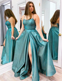 Sexy Shinning Prom Dresses Slit Skirt, Dress For Junior and Senior Prom, Formal Dress, Evening Dress, Dance Dresses, Graduation Party Dress, DT0738
