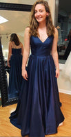 Simple Prom Dress Long, Evening Dress, Dance Dresses, Graduation School Party Gown, DT0303