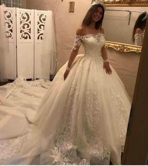 Princess Style Wedding Dress, Bridal Gown ,Dresses For Brides, PM0064