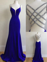 Royal Blue Prom Dress For Teens, Prom Dresses, Graduation School Party Gown, DT0223