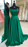 Sexy Backless Prom Dress Green Color ,Pageant Dress, Evening Dress, Dance Dresses, Graduation School Party Gown, DT0595