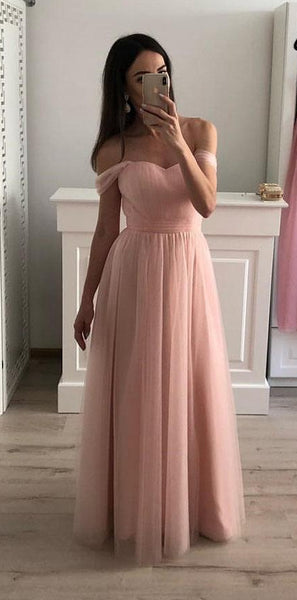 Simple Prom Dress Off The Shoulder Straps, Formal Dress, Evening Dress, Dance Dresses, Graduation Party Dress, DT0779