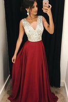 Burgundy Prom Dress For Teens, Graduation School Party Gown, Winter Formal Dress, DT0170