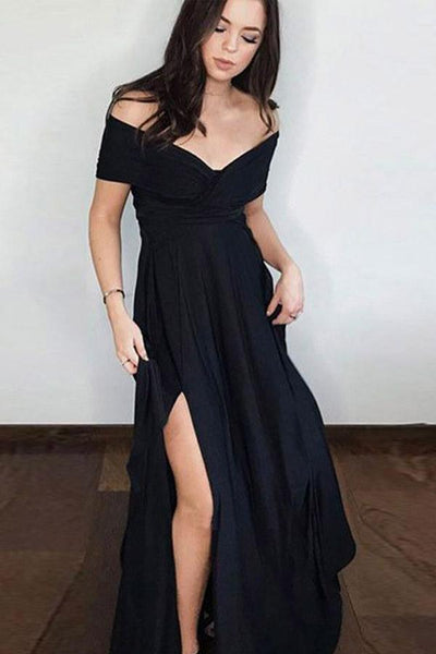 Sexy Black Prom Dress For Teens, Graduation School Party Gown, Winter Formal Dress, DT0172
