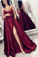 Sexy Prom Dress For Teens Slit Skirt, Evening Gown, Graduation School Party Gown, Winter Formal Dress, DT0175