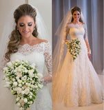 Wedding Dress with Sleeves, Bridal Gown ,Dresses For Brides, DT0341