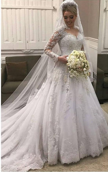 New Style Wedding Dress Long Sleeves, Bridal Gown ,Dresses For Brides, PM0019