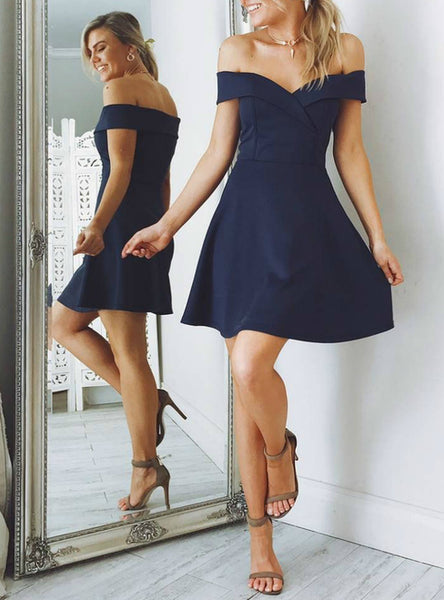 Navy Homecoming Dress, Short Prom Dress ,Back To School Party Dress, Evening Dress, Formal Dress, DTH0057