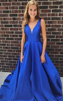 Royal Blue Prom Dress, Graduation School Party Gown, Sweet 16 Dance Dress, Winter Formal Dress, DT0007