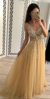 Beaded Prom Dress Long, Prom Dresses For Teens, Dresses For Party, Formal Dress, DT0420