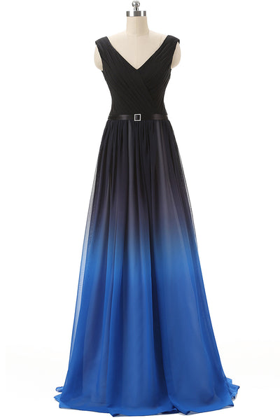 Fading Color Prom Dress, Bridesmaid Dresses, Evening Gown, Graduation School Party Dress, Winter Formal Dress, DT0086