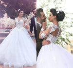Wholesale New Style Princess Wedding Dress with Sleeves, Bridal Gown ,Dresses For Brides, PM0057