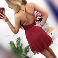 2019 Homecoming Dress Halter Neckline, Short Prom Dress ,Back To School Party Dress, Evening Dress, Formal Dress, DTH0055