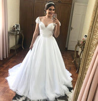 New Style Wedding Dress Cap Sleeves, Bridal Gown ,Dresses For Brides, PM0043