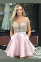 Homecoming Dress with Pockets, Short Prom Dress ,Dresses For Graduation Party, Evening Dress, Formal Dress, DTH013