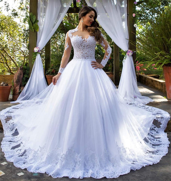 New Style Wedding Dress Long Sleeves, Bridal Gown ,Dresses For Brides, PM0046