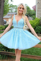 Lace Homecoming Dress, Short Prom Dress ,Dresses For Graduation Party, Evening Dress, Formal Dress, DTH0753