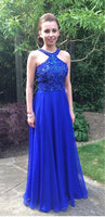 Royal Blue Prom Dress, Graduation School Party Gown, Winter Formal Dress, DT0013