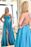 Sexy Backless Prom Dress with Slit, Prom Dresses For Teens, Dresses For Party, Formal Dress, DT0422