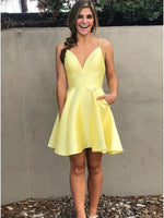 Yellow Homecoming Dress, Short Prom Dress ,Dresses For Graduation Party, Evening Dress, Formal Dress, DTH0755