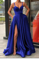 Royal Blue Prom Dress, Evening Dress, Dance Dresses, Graduation School Party Gown, DT0346