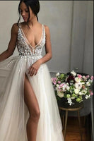 Sexy Prom Dress with Slit, Pageant Dress, Evening Dress, Dance Dresses, Graduation School Party Gown, DT0591