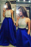 Royal Blue Prom Dress, Prom Dresses, Evening Gown, Graduation School Party Dress, Winter Formal Dress, DT0070