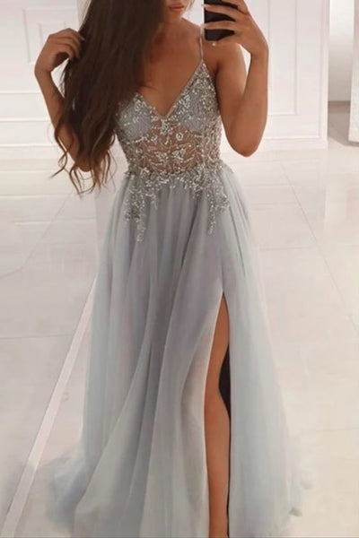 Sexy Prom Dress with Slit 2021, Formal Dress, Evening Dress, Dance Dresses, Graduation Party Dress, DT0776