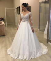 New Wedding Dress With Sleeves, Bridal Gown ,Dresses For Brides, PM0048