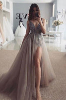 Sexy Prom Dress with Slit, Prom Dresses, Pageant Dress, Evening Dress, Ball Dance Dresses, Graduation School Party Gown, DT0661