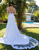 New Custom Made Wedding Dress With Sleeves, Bridal Gown ,Dresses For Brides, PM0049