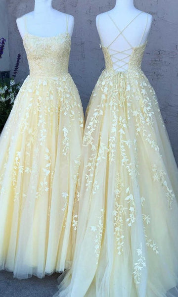 New Style Yellow Prom Dress 2020, Prom Dresses, Pageant Dress, Evening Dress, Ball Dance Dresses, Graduation School Party Gown, DT0647