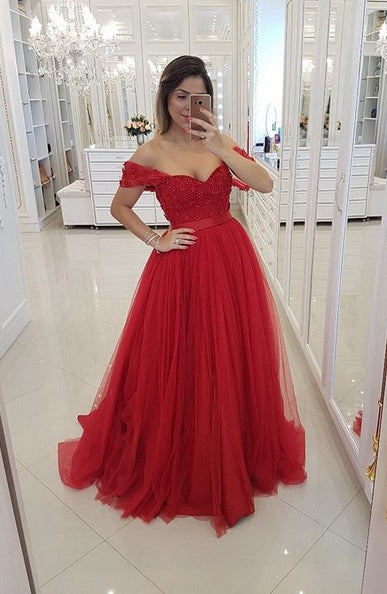 Red Prom Dress 2019, Graduation School Party Gown, Winter Formal Dress, DT0018