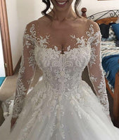 New Style Wedding Dress Long Sleeves, Bridal Gown ,Dresses For Brides, PM0007