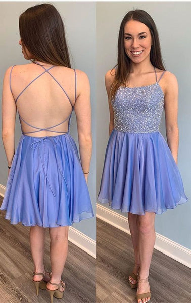 Beading Homecoming Dress, Short Prom Dress ,Dresses For Graduation Party, Evening Dress, Formal Dress, DTH0026