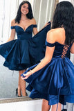 Navy Homecoming Dress, Short Prom Dress ,Back To School Party Dress, Evening Dress, Formal Dress, DTH0043
