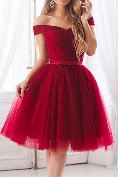 Off Shoulder Homecoming Dress 2019, Short Prom Dress ,Dresses For Graduation Party, Evening Dress, Formal Dress, DTH005