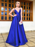 Royal Blue Prom Dress, Graduation School Party Gown, Winter Formal Dress, DT0022