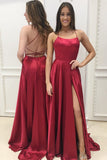 Sexy Prom Dress For Teens Slit Skirt, Evening Gown, Graduation School Party Gown, Winter Formal Dress, DT0180